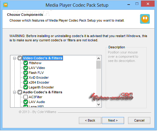 Codec untuk Windows Media Player
