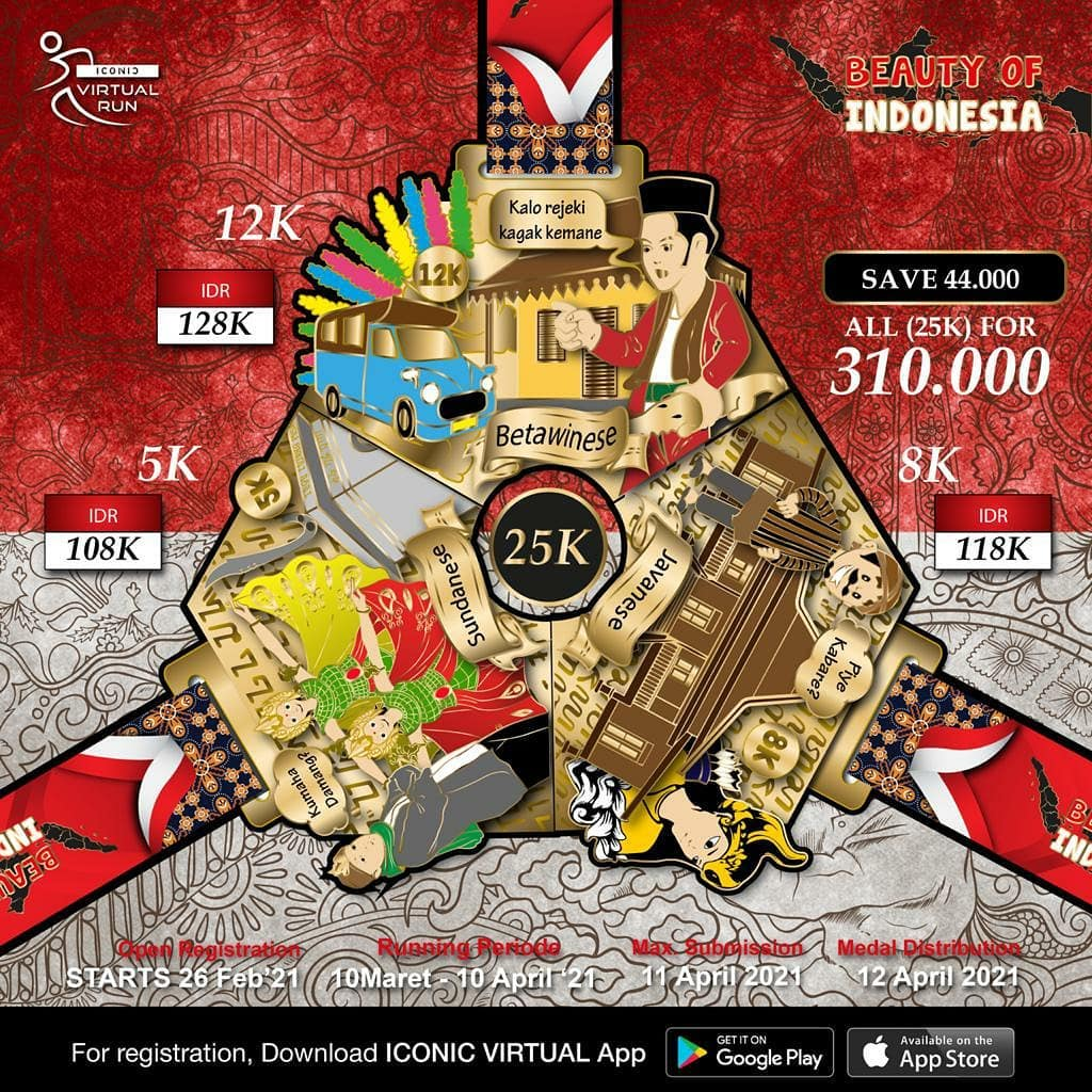 Iconic Virtual Run ∙ Beauty Of Indonesia Series • 2021