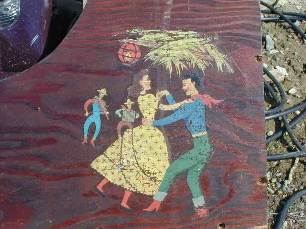 Decal Of Square Dancing On Speaker Baffle