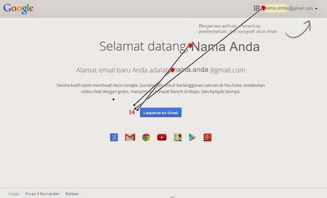 Konfirmasi dan Proses Akhir Pembuatan Akun Gmail