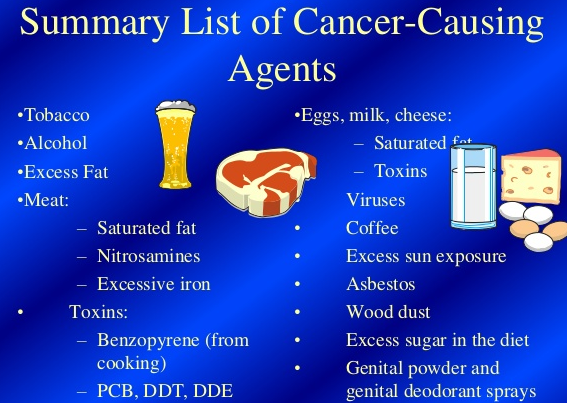 top 10 cancer causing agents chemicals