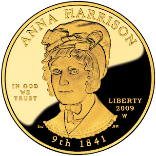 US Gold Coins Anna Harrison First Spouse 10 Dollars Gold Coin