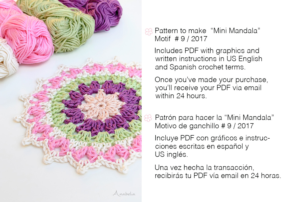 Anabelia craft design: Mini Mandala Motif 9/2017