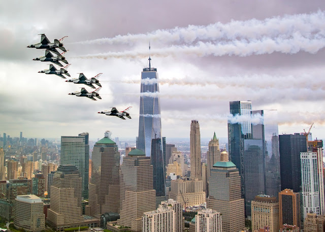 USAF Thunderbirds to join USN Blue Angels, RAF Red Arrows, F-35s in historic aerial parade over the Hudson River