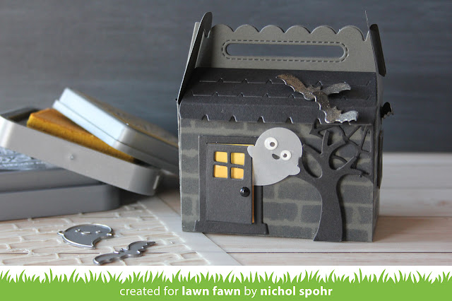 The Lawn Fawn Blog Lawn Fawn Intro Scalloped Treat Box Haunted - What does shut the front door mean