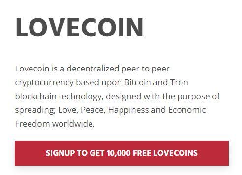 10000 Lovecoin Free Crypto Airdrop Bonus