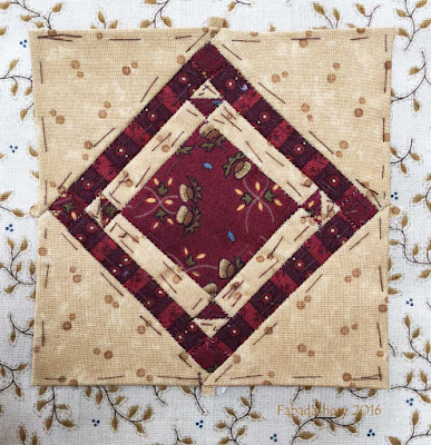 Dear Jane Quilt - Block C13 Lakota Sioux