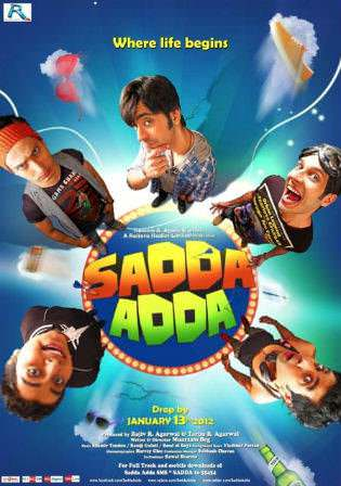 Sadda Adda 2012 HDRip 900MB Hindi Movie 720p x264 Watch Online Full Movie Download bolly4u