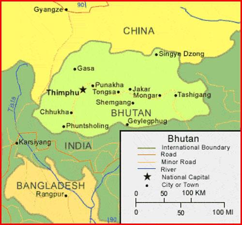 image: Bhutan Map HD