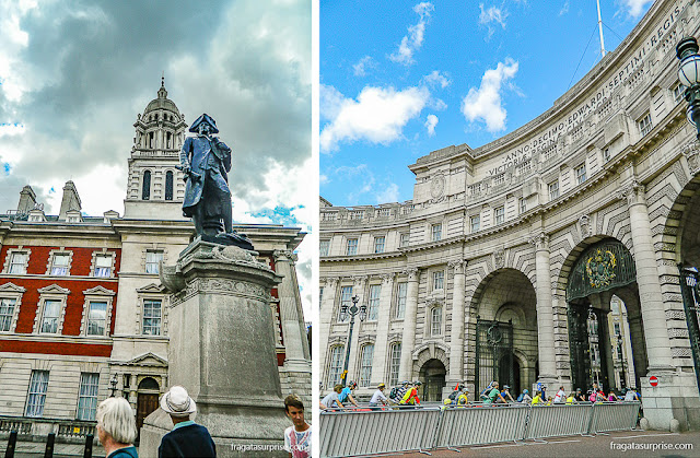 Arco do Almirantado e estátua do Almirante Cook, Londres