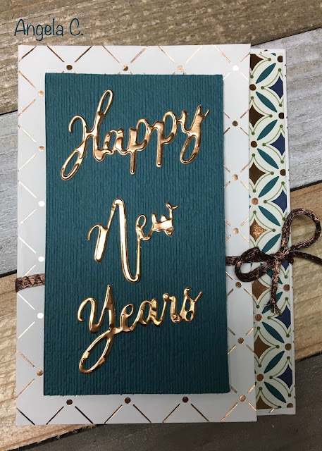 Stampin' Up!, Word Wishes, 2019-2020 Annual Catalog, Happy New Year, www.stampingwithsusan.com, Gift card holder,