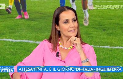 Roberta Capua 11 luglio pre-partita