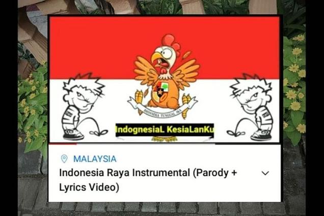 Sebuah Akun YouTube Diduga Milik Warga Negara Malaysia Melecehkan Lagu Nasional RI