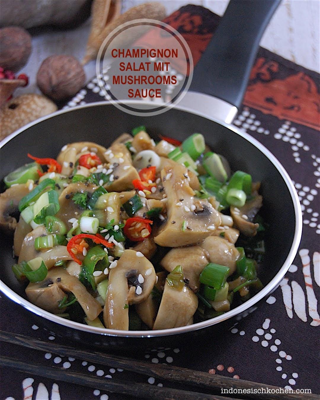 Veganer Champignonsalat mit Mushrooms Sauce