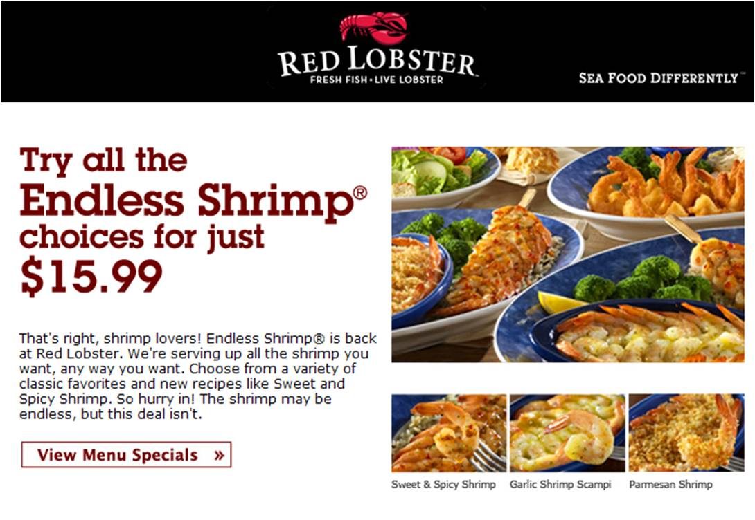 picture about Red Lobster Printable Menu titled Crimson lobster discount codes canada june 2018 / Discount codes for fast