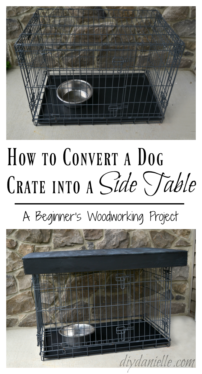 Easy Dog Crate Side Table