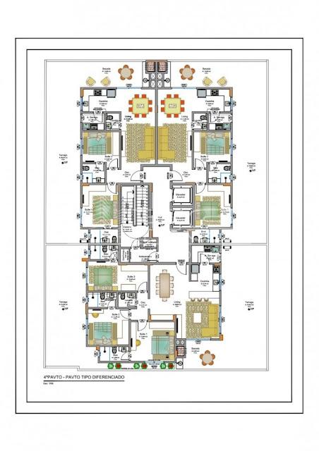 Vale do Sol Residencial - planta de todos os tipos de apartamento