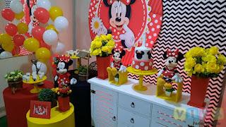 Decoração de festa infantil Minnie Vermelha Porto Alegre