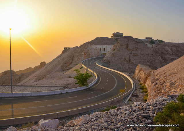 road in Jebel Hafeet in Al Ain