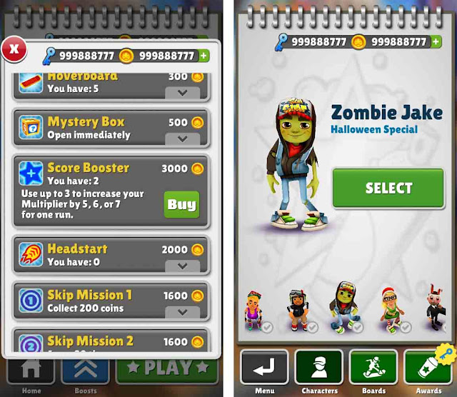 Cheat Subway Surfers Tanpa Root Terbaru