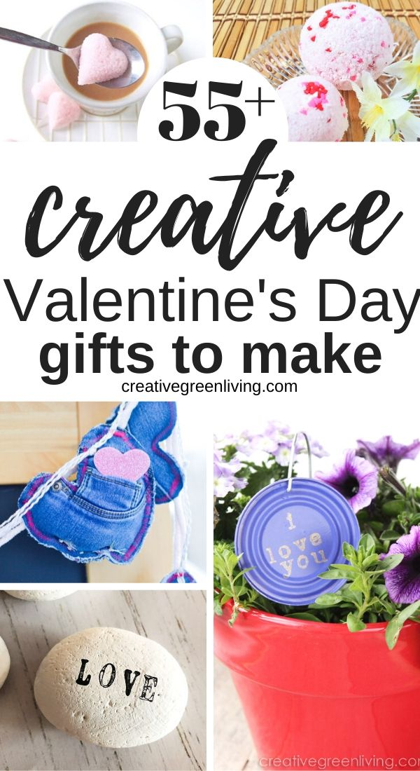 Get lots of great Valentine's Day gift ideas that you can make yourself at home! Lots of gift ideas for him, for her, for kids and more. Includes DIY valentine's day gift ideas for husband, wife, boyfriend, girlfriend, kids and more.