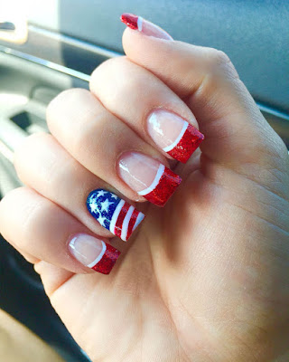 Desings nails day of independence