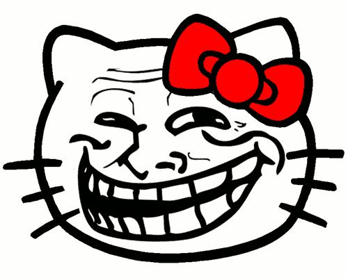 Troll Face Kitty Symbols Emoticons