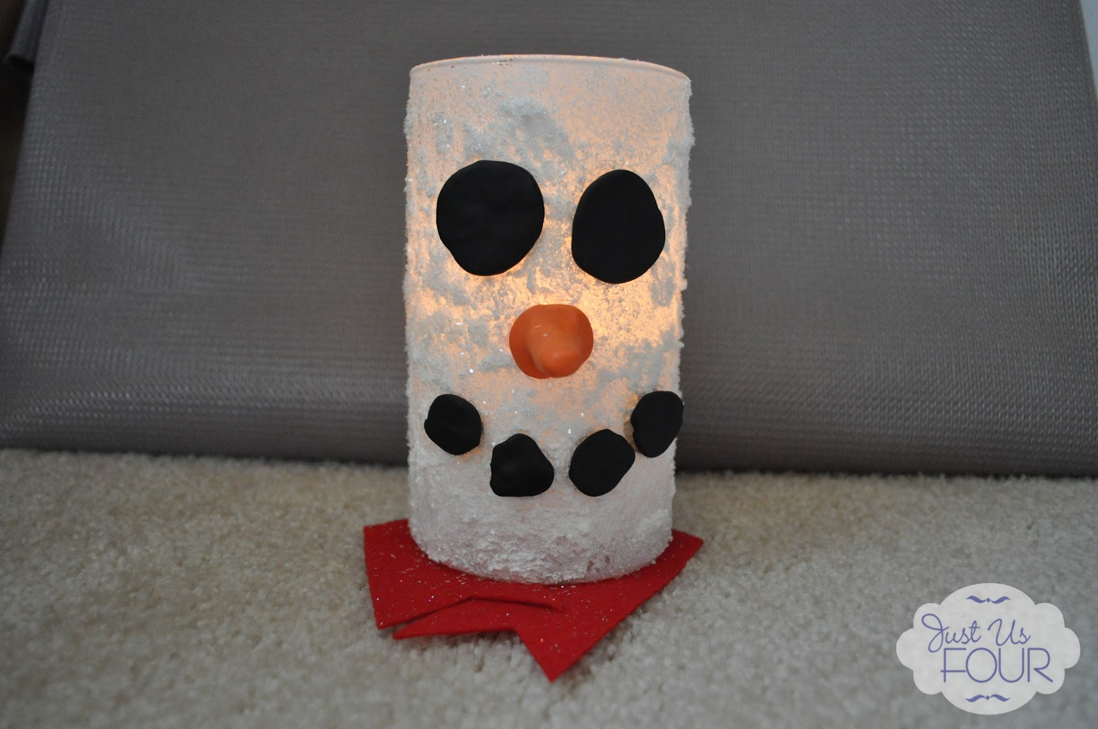 Snowman Candle Holders My Suburban Kitchen