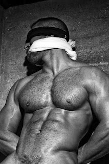 sexy, male, submission, naked, blindfolded, sub, bound male