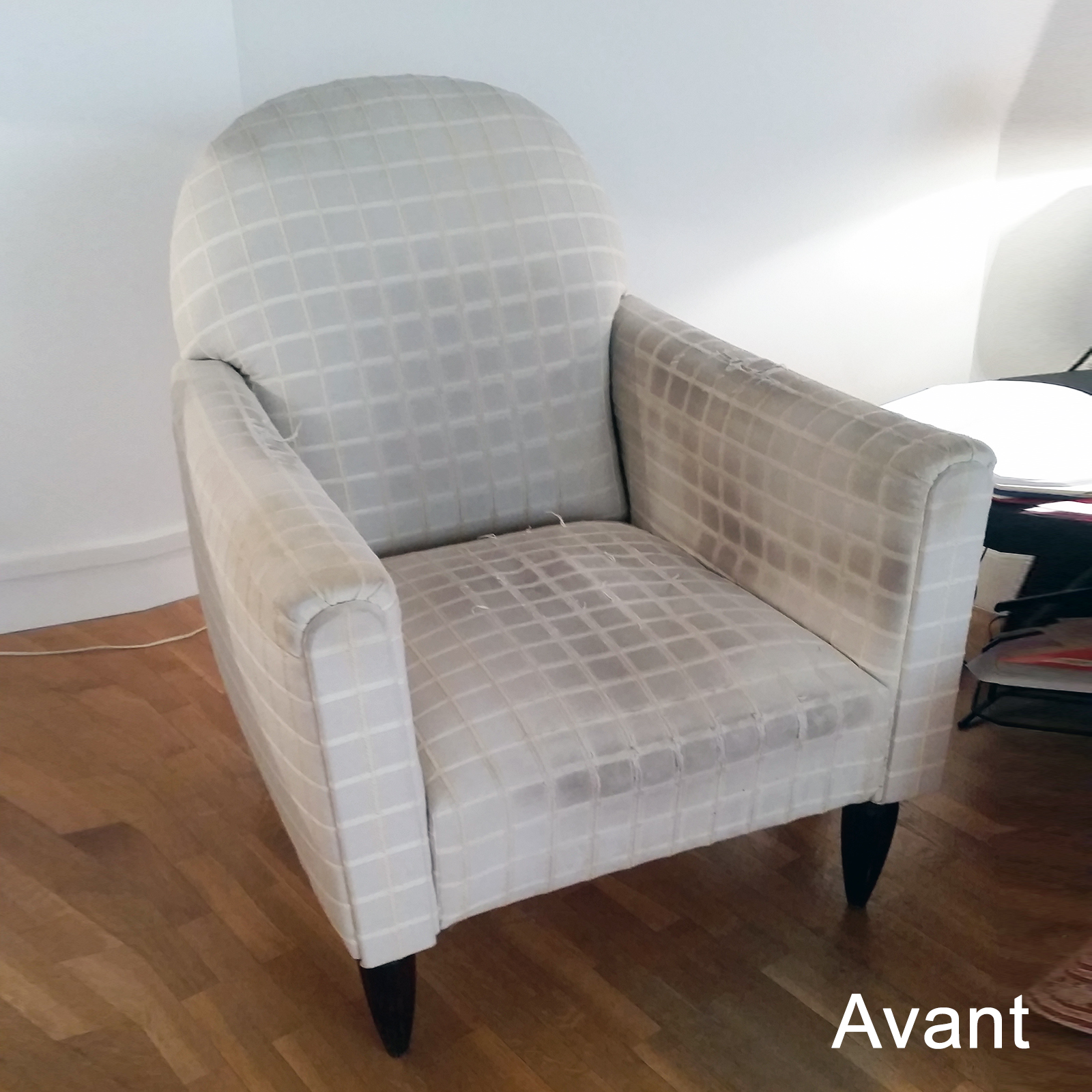avant apr s fauteuil ann es 20 dossier inclinable atelier velvet artisan tapissier paris 10e. Black Bedroom Furniture Sets. Home Design Ideas