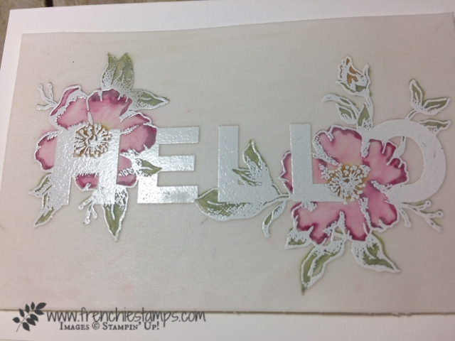 Floral Statements on Vellum, Stampin'Up!