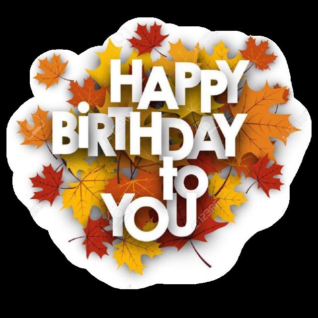 Happy Birthday transparent png logo design