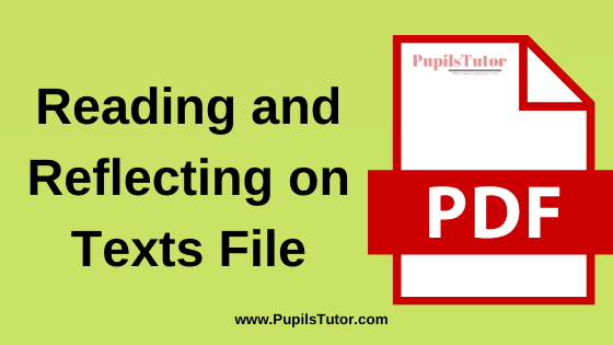 Reading And Reflecting on Text B.Ed Practical File, Project and Assignment in English Language for 1st and 2nd Year / All Semester Free Download PDF | Reading And Reflecting on Texts File for B.Ed | Reading And Reflecting on Texts Assignment in English Medium | Reading And Reflecting on Texts Project Report