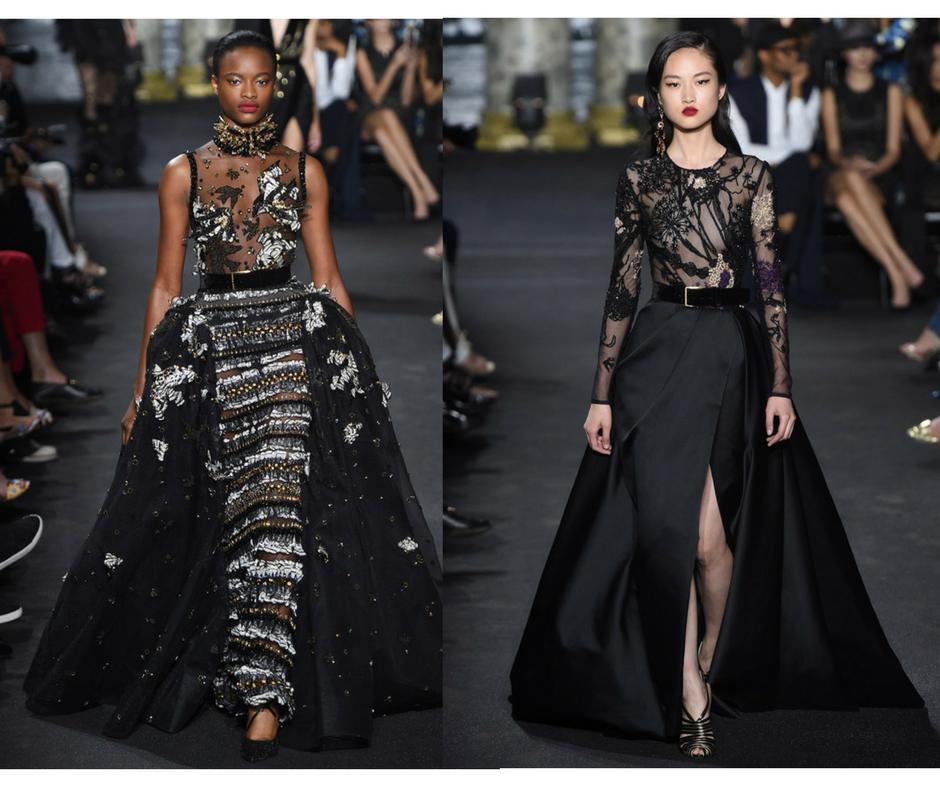 Modelos de vestidos de fiesta con transparencias