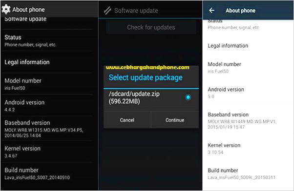 Cara Update dan Instal Versi Android dengan Paket Upgrade