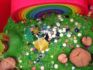 Fairy Garden Play - the perfect small world pretend play invitation for inside play