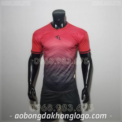 Áo bóng đá ko logo Rius màu đỏ