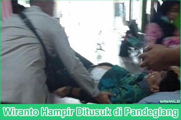 Wiranto Diserang Orang Tidak Dikenal dan Hampir Ditusuk