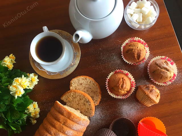 Çaylı Kek, Kek Tarifi, Cevizli Kek, Tatlı, Çay, Nefis, İkram, Kisnis Otu