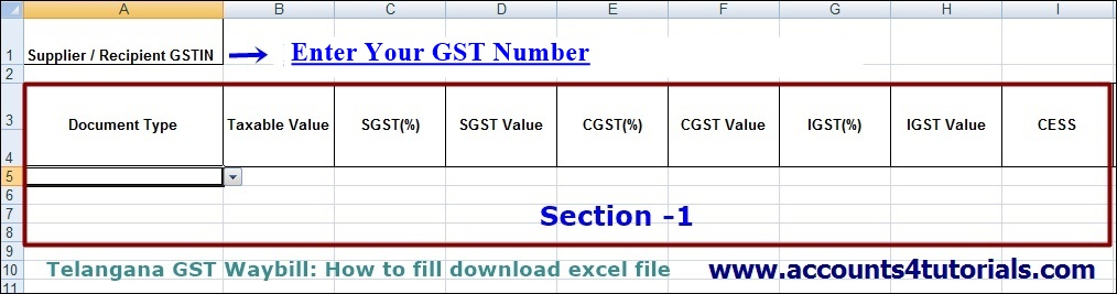 how to fill gst waybill template for telangana vat dealers