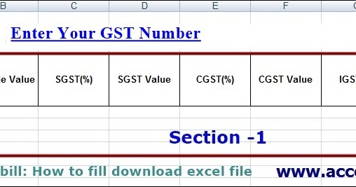 telangana gst waybill how to fill excel template file accounting taxation