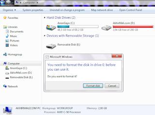 FlahsDisk Meminta Diformat Setelah Digunakan Untuk Jalankan Kali Linux Live USB