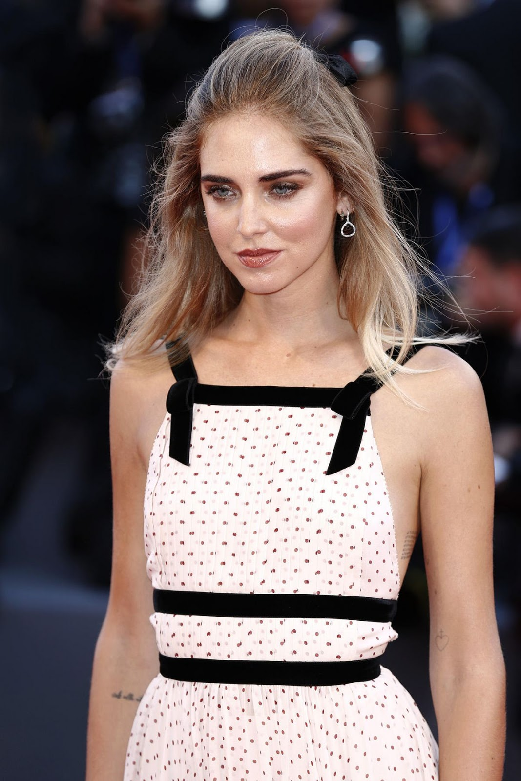 HQ Photos of Chiara Ferragni with Tattoo At The Young Pope Premiere At 2016 Venice Film Festival
