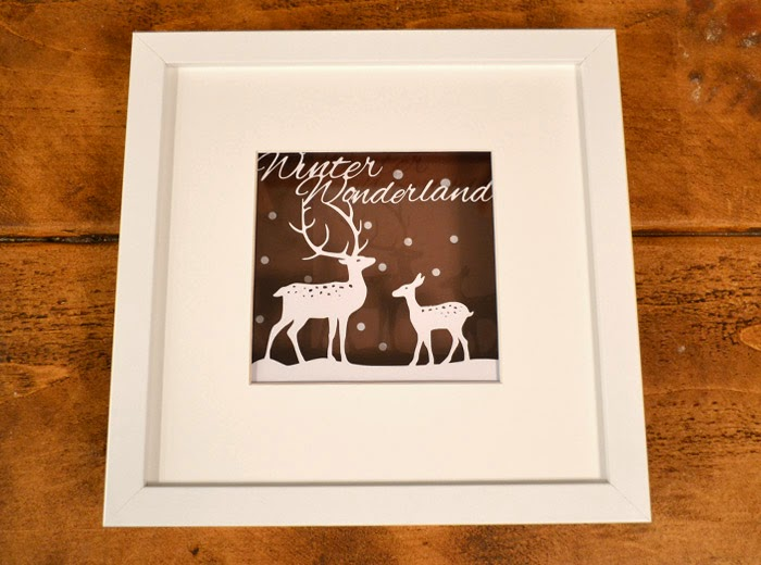 Reindeer winter wonderland papercut