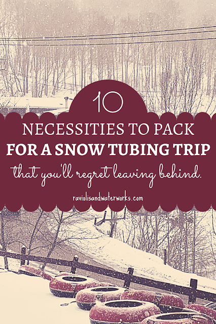 what to bring with you for a ski trip or snow tubing trip