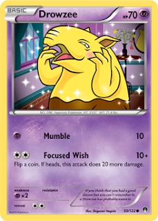 Drowzee BREAKpoint Pokemon Card