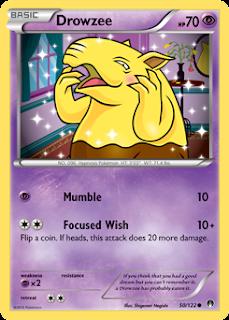 Drowzee BREAKpoint Pokemon Card