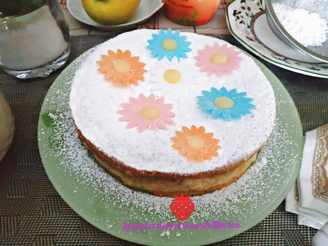 Tarta Sueca de  Manzana y Almendras
