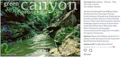 Menelusuri Sungai Batang Kopu Green Cayon nya Riau
