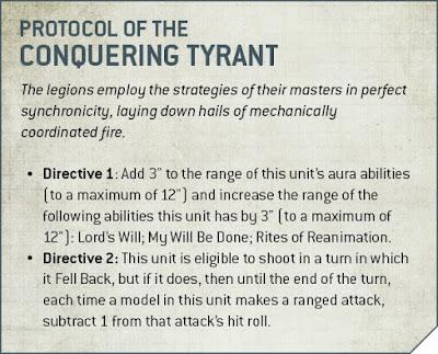 protocolo de tirano conquistador necron